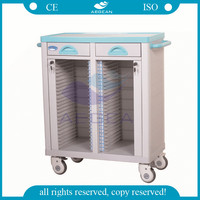 AG-CHT003 CE ISO with double rows hospital patient medical records file trolley