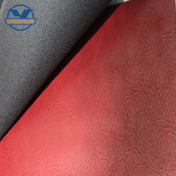 Quilted faux leather fabric