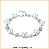 new year the best beautiful and elegant styple 925 sterling silver charm bracelet,pearl jewelry online wholesale