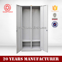 Best sell stainless steel cabinet clothes locker wardrobe 2 door locker