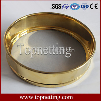 Laboratory brass test sieve
