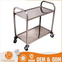 Hot Sales Direct Price Kitchen Equipment Hand Push Food Cart With Wheels For Sale