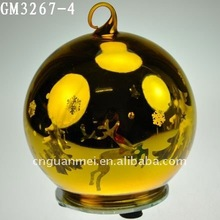2013 hot selling piating glass hanging ball with led light