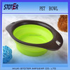 plastic foldable pet bowl , pet food bowl , pet bowls feeders