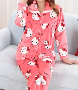 Women's And Men's Adult Microfiber flannel One Piece Onsie Pajamas