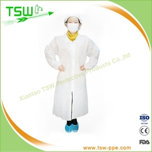 PP/PE/SMS/SMMS non woven disposable lab coats