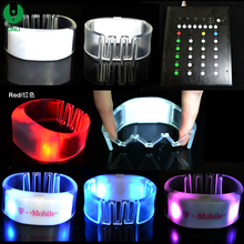 Hot World Cup Colorful Remote Control Led Bracelet Control DMX, Flashing LED DMX Wristband