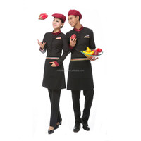 restaurant hotel waitress design server sushi bar staff red uniform