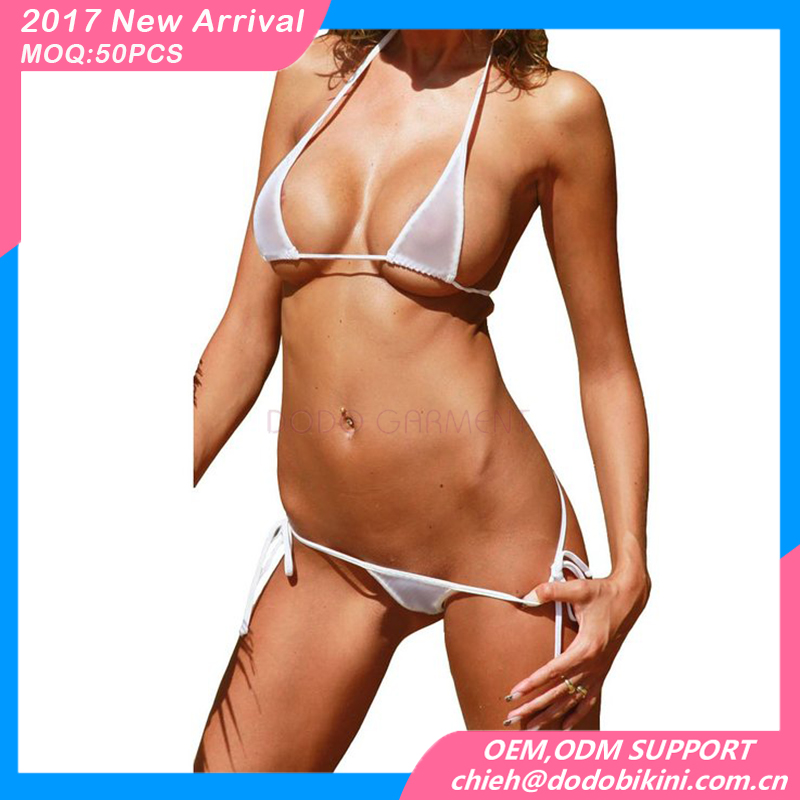 Sexy hot sheer extreme thong transparent micro bikini