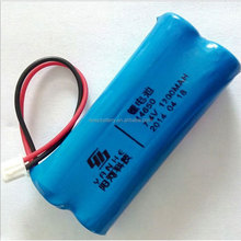 BMS rechargeable 3.7v 7.4v 14650 18650 li ion battery 1200mah 1500mah 1800mah for loudspeaker power supply