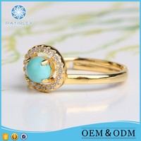 Valuable turquoise ring smart jewelry new trendy style