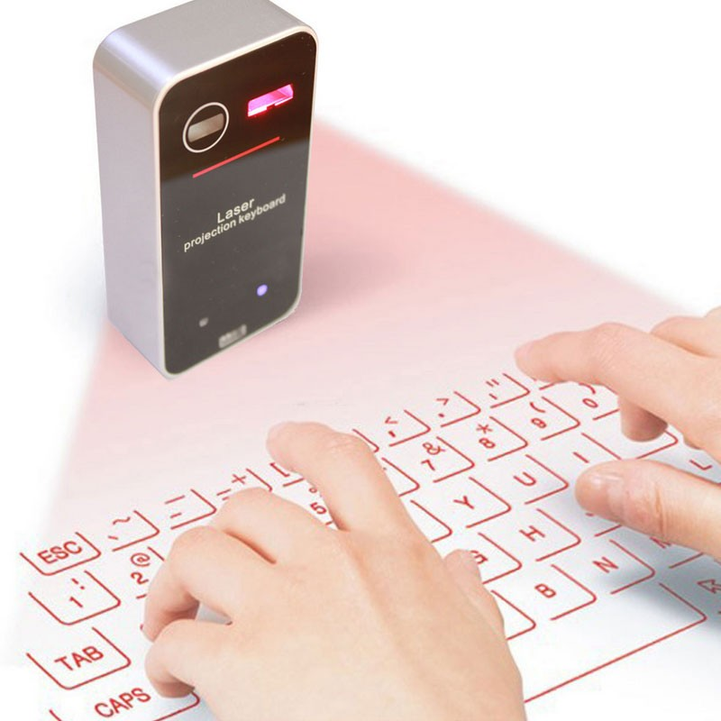 Virtual Keyboard Ultra-Portable Wireless Laser Projection Keyboard for iPhone for iPad for Android for Samsung