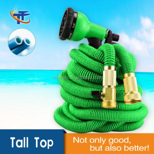2018 Garden Hose 50 Feet Expandable Hose With All Brass Connectors, 8 Pattern Spray And High Pressure,Expanding Garden Hose