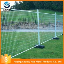 welded temporary fence panel construction fencing/Removable temporary construction wall fence with plastic base installation