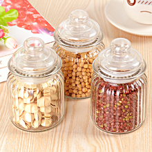 300ml candy glass storage jar cheap glass jars with lids
