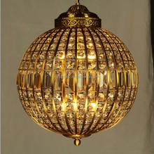 19th Century American Village Vintage k9 crystal chandelier glass ball ceiling pendant lamp for hotel/house