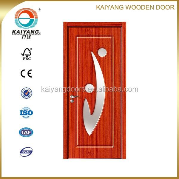 interior pvc mdf wooden glass bathroom <strong>door</strong> design