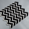 Nero Maqueina and MOP chevron white and black marble mosaic tile for wall decoration