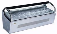 Countertop gelato display case/small gelato showcase cabinet/mini popsicle freezer