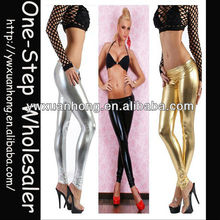 lady sexy liquid wet look metallic club legging, shinny gloss 4 way stretch Vinyl PVC Leggings,pants