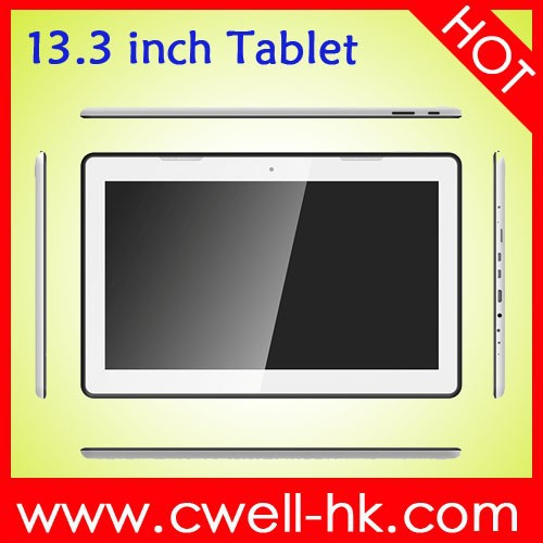 Rockchip P33 Full HD LCD Screen 13.3 inch Tablet RK3188 Quad Core android 4.4 super smart tablet pc