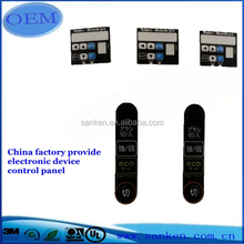 Hot sale custom made chronometric device graphic overlay/label/membrane keypad switch