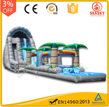 Commercial big glissade flottante floting giant inflatable water slide for adult