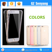 Two-sided Clear Crystal Soft Tpu 360 Degrees Full Cover Case For Iphone 5 6 6 Plus