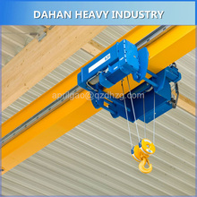 Factory Direct Sales 5 Ton Best Hoist Travelling Single Beam Bridge Crane Price With End Carriages