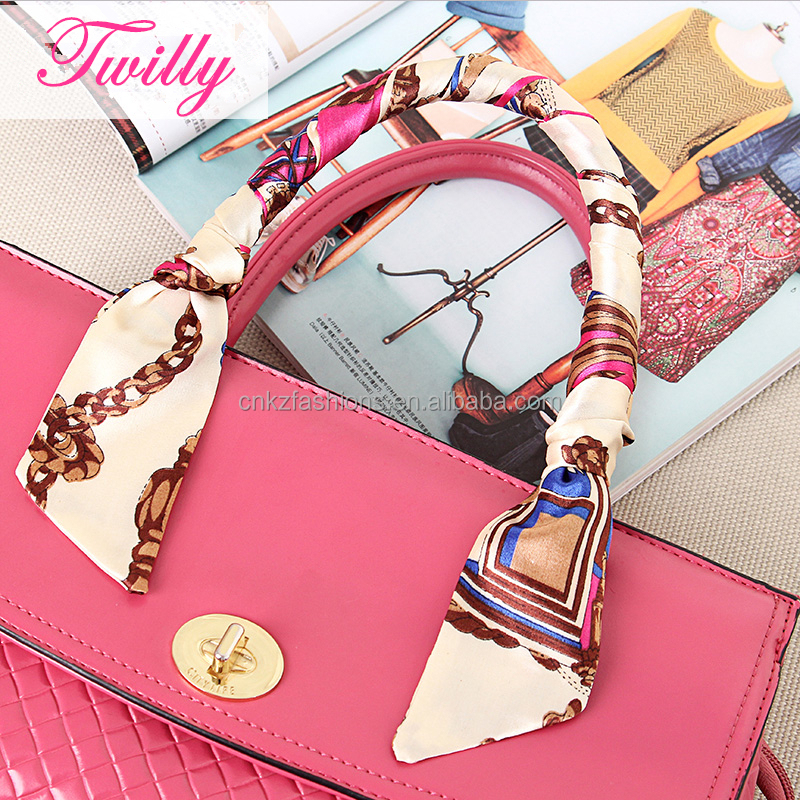 FREE SHIPPING SAMPLE MINI SCARF TWILLY BANDEAU WRAP RIBBON MULTICOLOR fashion scarf For bag