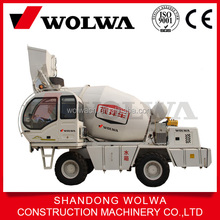 China mobile 4m3 self loading concrete mixer truck for sale