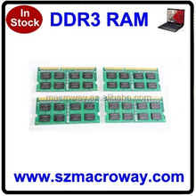 ETT chips cheap 256mb*8 16IC ddr3 ram 4gb used for laptop