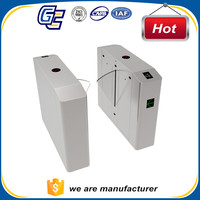 stainless steel automatic rfid flap barrier turnstile gates with sturdy package