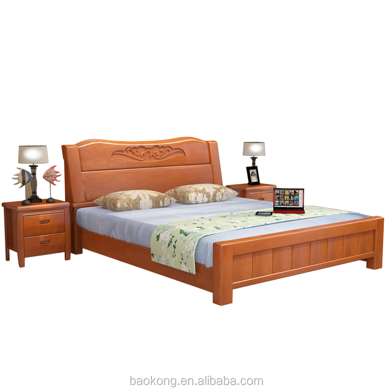 Luxury Solid Wood Hand Carved Bed