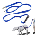 Pet Leashes Rubber Handle Nylon Soft Dog Lead