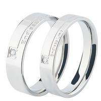 Creative stainless steel surface titanium couple rings