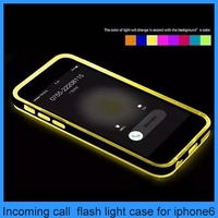 Dazzling incoming call flash light case for iphone 6&6plus