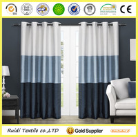 Grommet Top 100% Polyester Stripe Window Curtain Decorative Window Curtain
