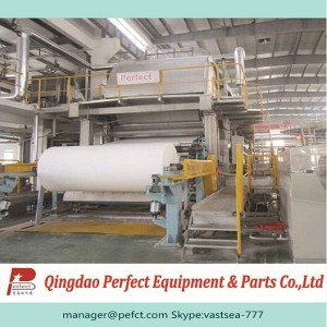 Waste paper and old carton recycling facial tissue, napkin tissue and toilet tissue making machine