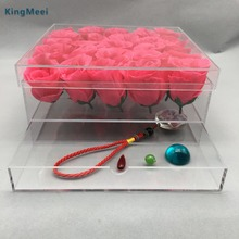 Transparent Acrylic Flower Stand Pots Display Box