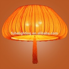 Hot-selling custom lighting ocean new classic chinese style celling lights pumpkin lamp pendant light chandelier fabric