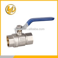 2016 hot sales paltingflow full port with steel handle brass ball valve