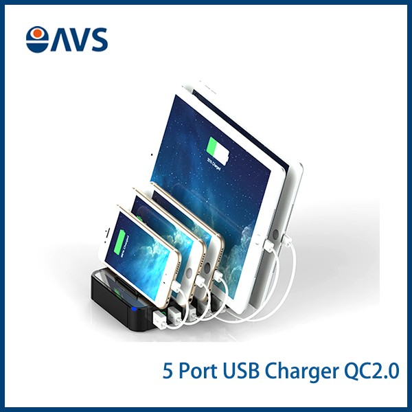 2016 <strong>Portable</strong> 5 Port USB hub Powered Charging Station for iphone and Mobile and Tablet