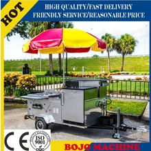 HD-23 stainless steel hot dog cart CE ISO UL EEC hot dog cart food vending cart