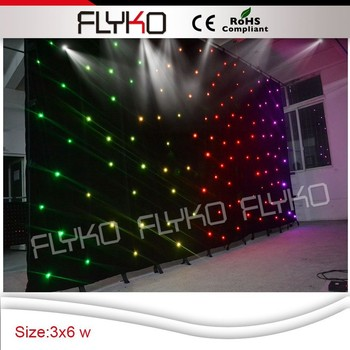 led star curtain cloth,fabric portable wedding backdrop