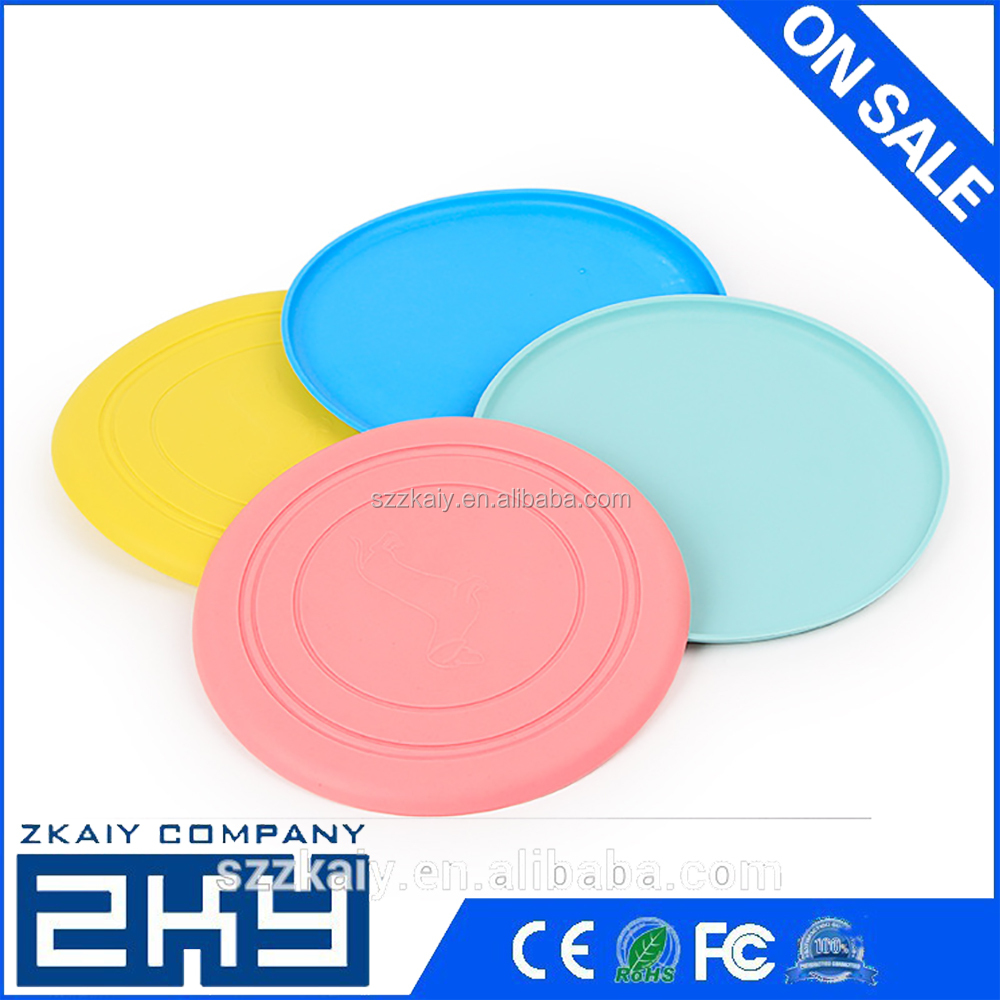 Dogs Toys Pets Silicone Frisbee Flying Disc Outdoor Playing Toy Resistance to bite Toys For Pet Dog Cat