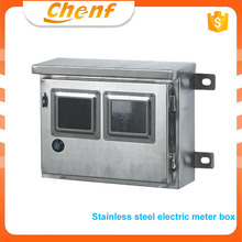 Hot sale outdoor weatherproof single phase stainless steel electric meter box