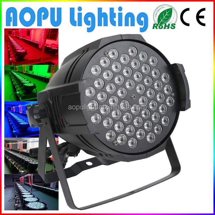 Stock Aluminum Die-Casting Indoor 54 3w <strong>Led</strong> Par Light For Party