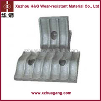 Sand Casting High Manganese Mn13Cr2 Unbreakable low price Copper ore Ball Mill Liner Plates