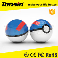 Factory Price 12000mAh Pokemon Power Bank Pokeball,Portable Mobile Power Supply